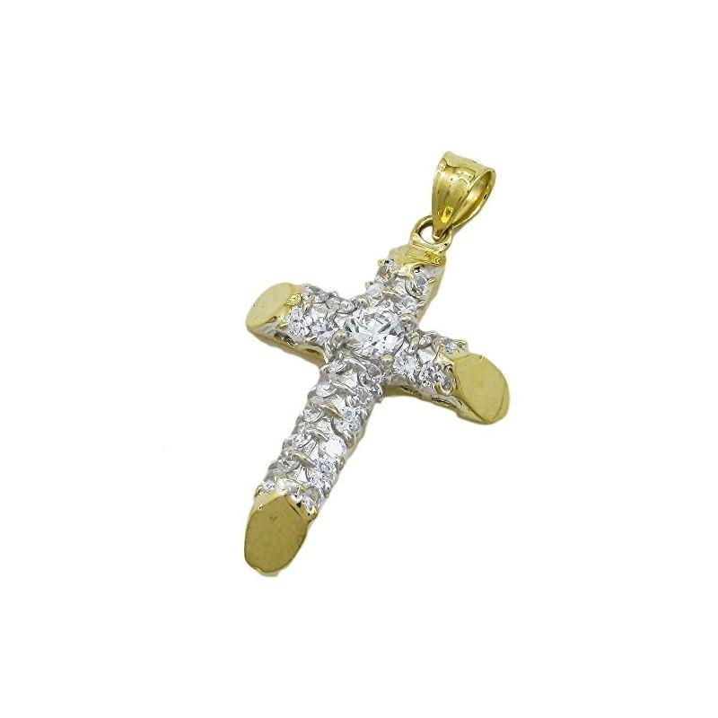 10K Yellow Gold unisex cross ASVJ70 62987 1