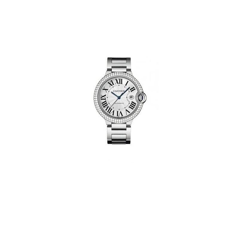 Cartier Ballon Bleu Mens Gold Watch WE90 55145 1