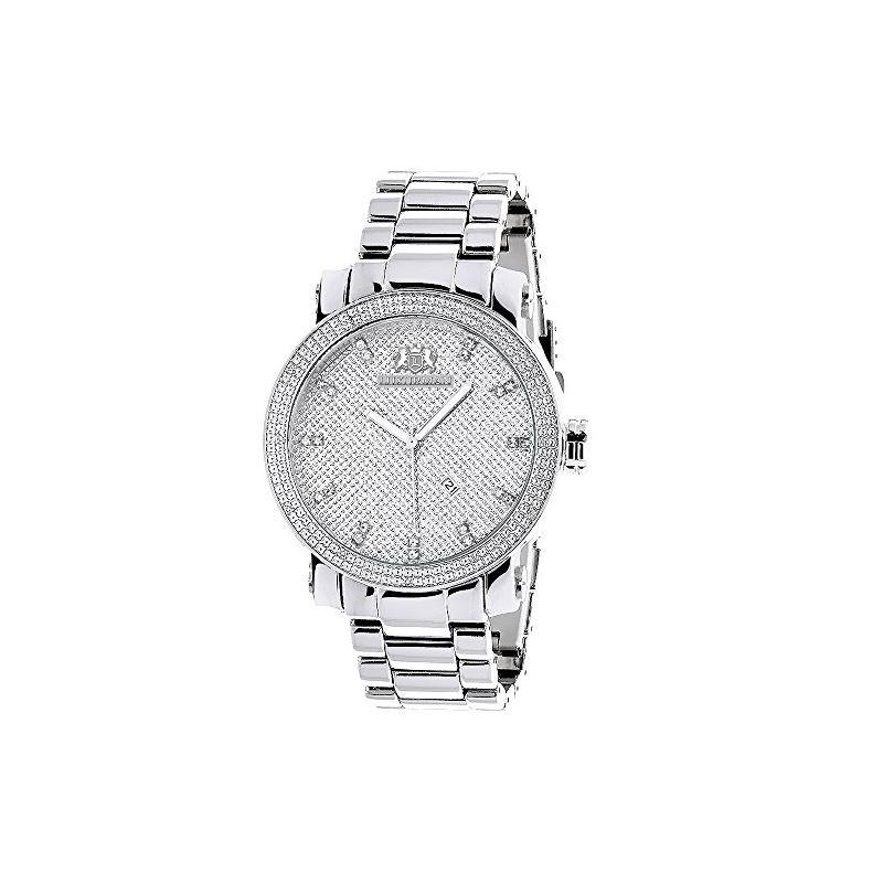 Luxurman Mens Real Diamond Watch 0.12ct  90296 1