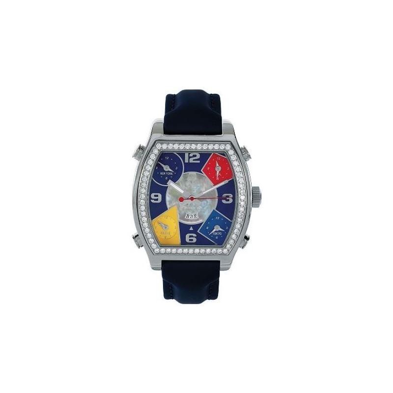 Jacob  Co 5 Time Zone 3.25Ct Watch JCS2 53100 1