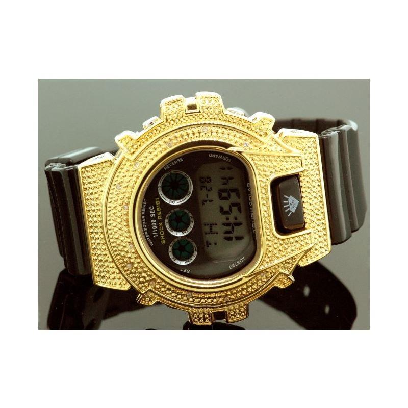 Ice Plus Mens Diamond Shock Style Watch  27750 1