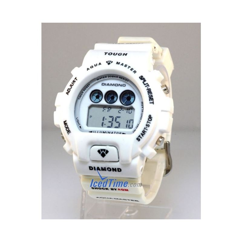 Aqua Master Shock Digital Watch White 27742 1