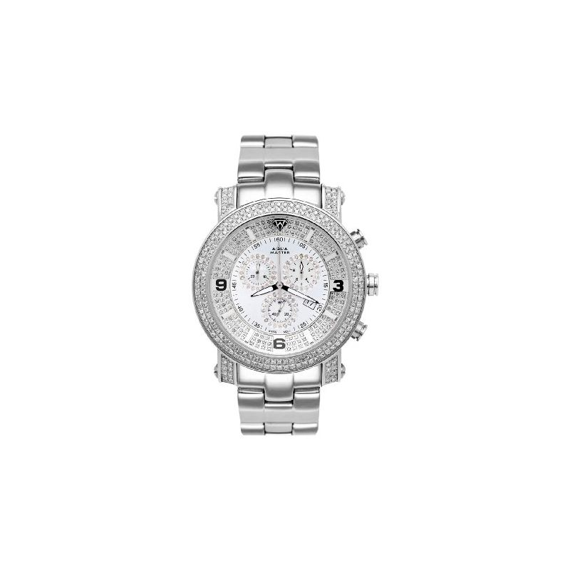 NEW! Men's Power Two-Row Diamond Watch With Di