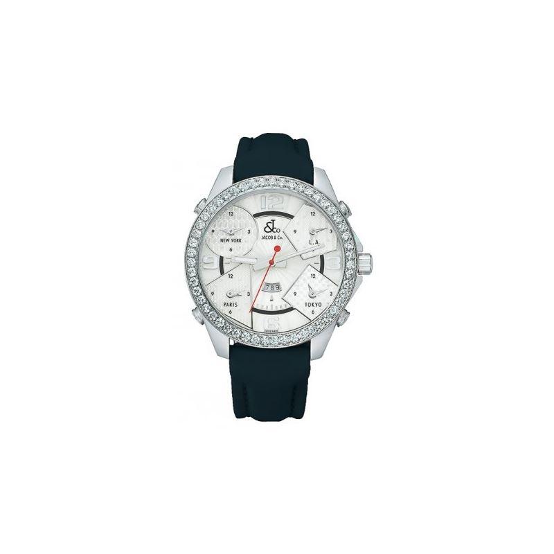 Jacob  Co Five Time Zone 47mm Diamond Wa 53096 1