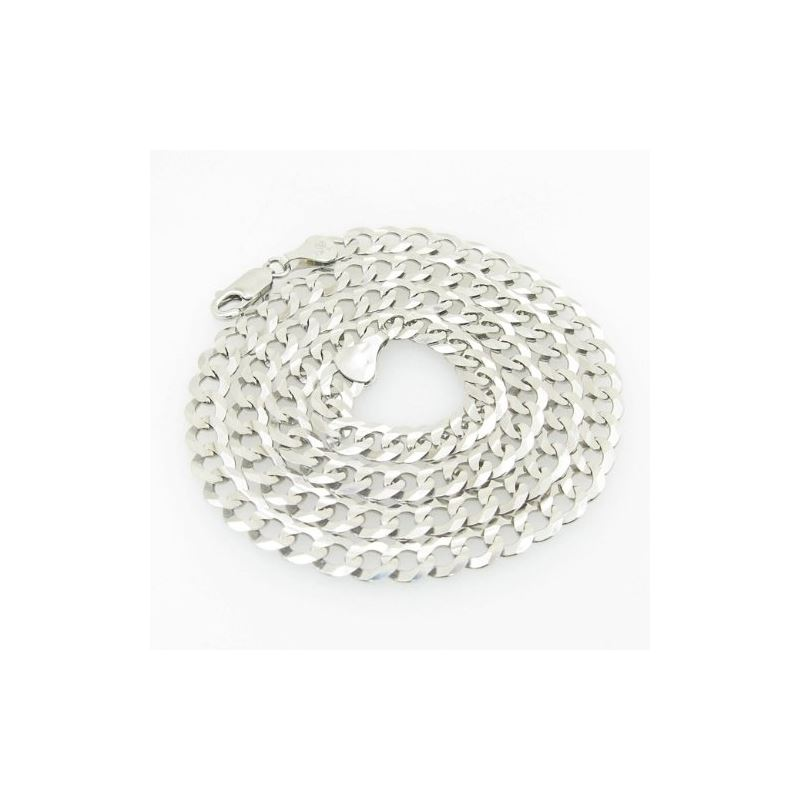 Mens White-Gold Cuban Link Chain Length  79007 1
