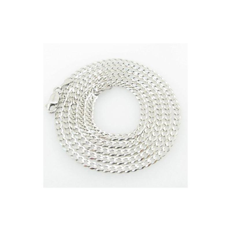 Mens White-Gold Cuban Link Chain Length  79028 1