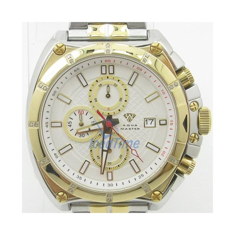 Mens Aqua Master Iced Out Diamond Watch  50685 1