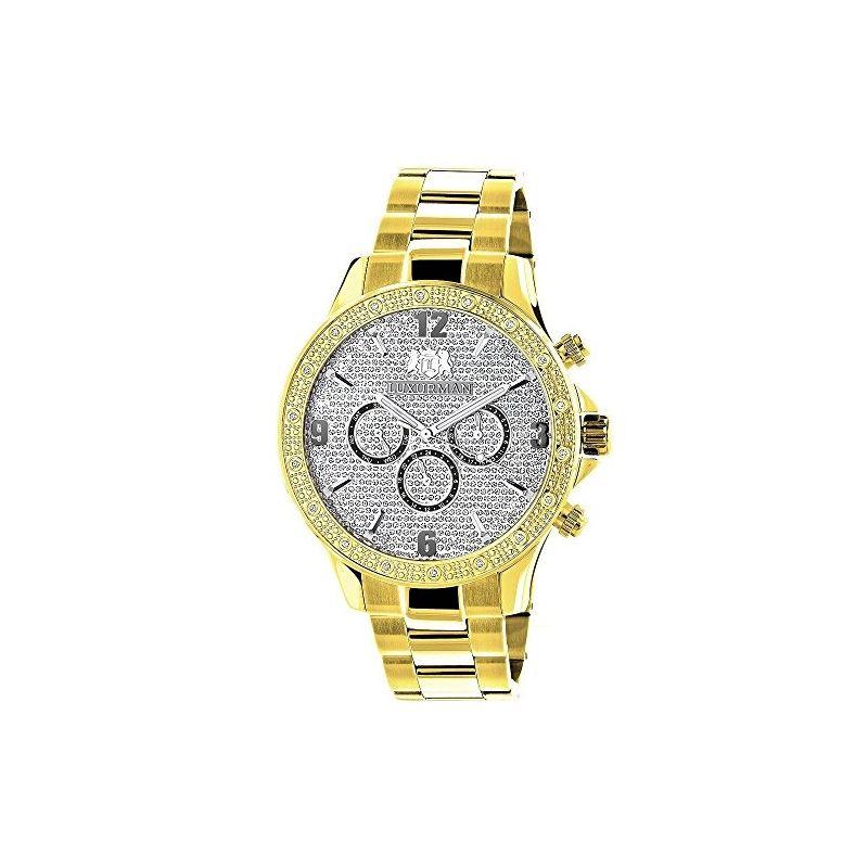 Luxurman Liberty Yellow Gold Plated Genu 90256 1