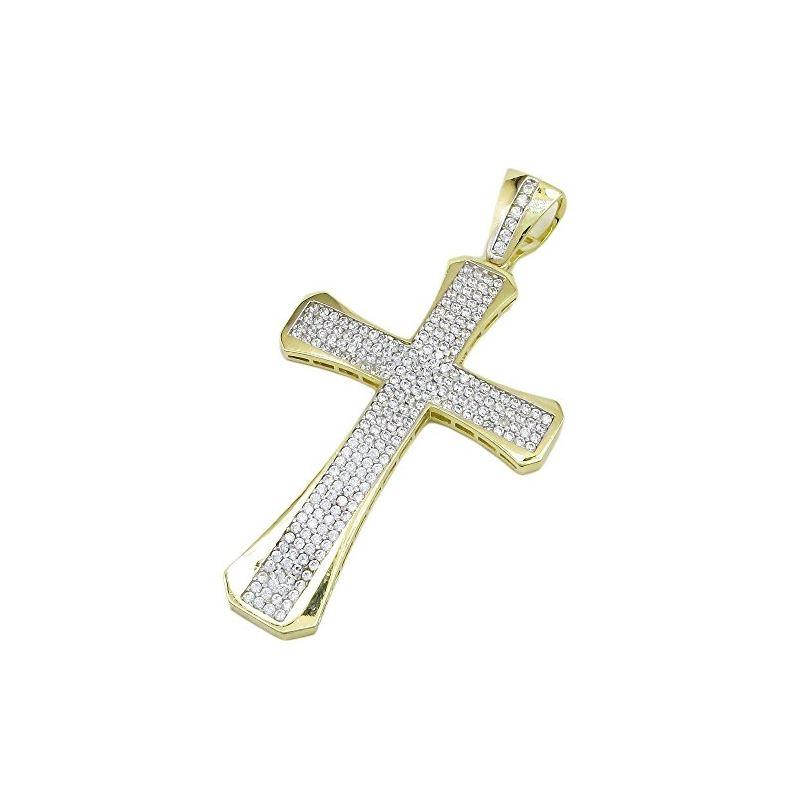 10K Yellow Gold unisex cross ASVJ66 62975 1