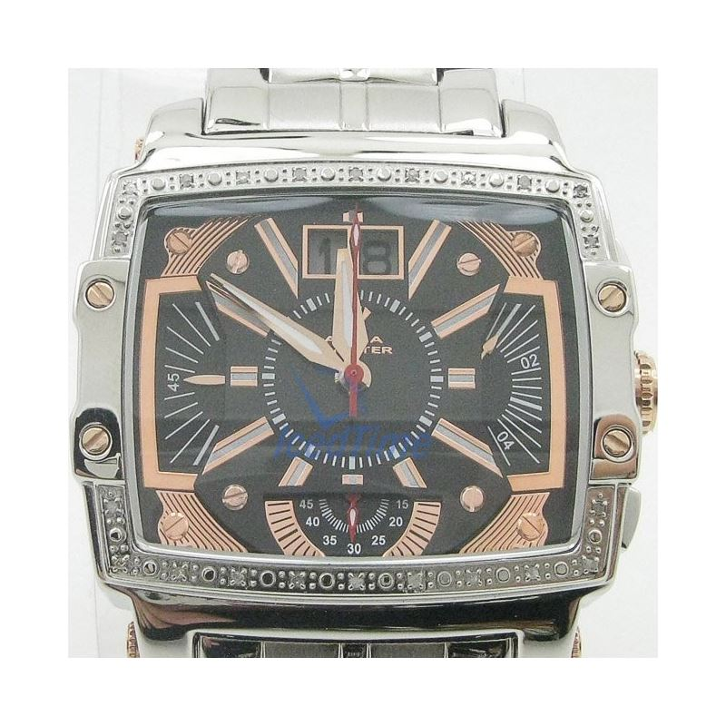Mens Aqua Master Iced Out Diamond Watch  50650 1
