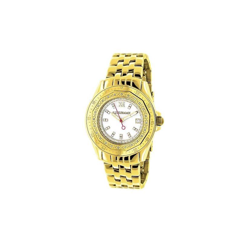 Womens Genuine Diamond Watch 0.25ct Yell 91090 1