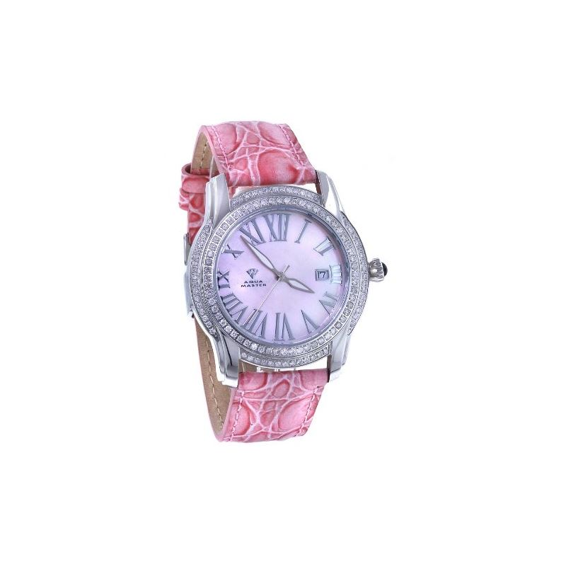 Men's Classic 1.70Ct Diamond Watch With Pink L