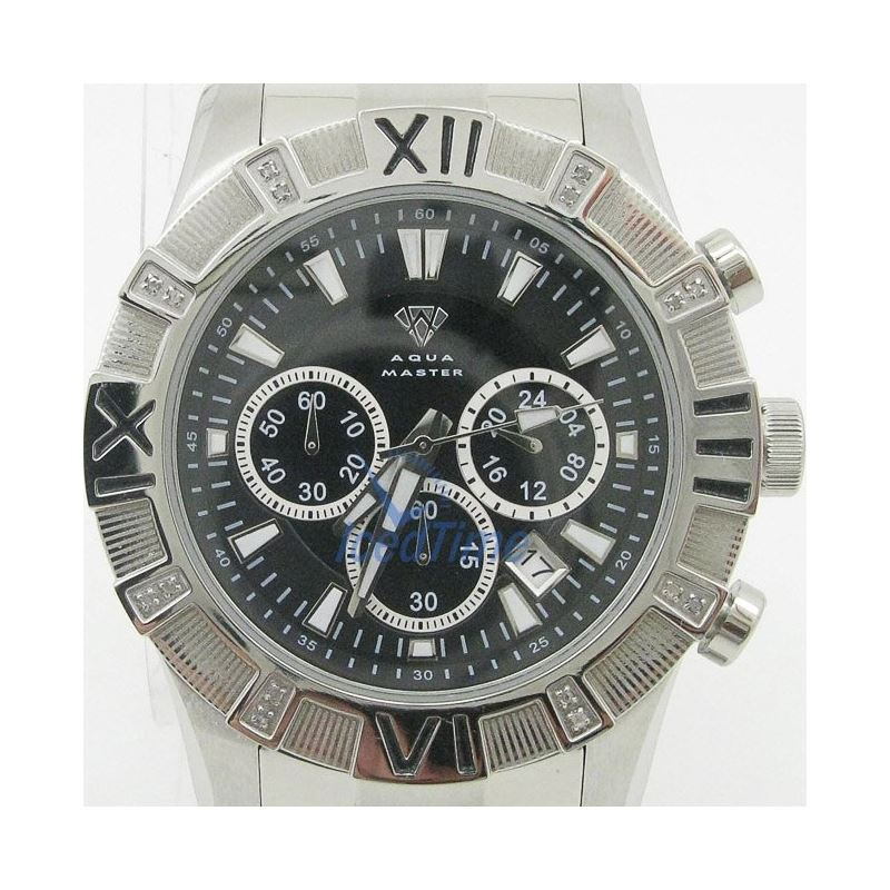 Mens Aqua Master Iced Out Diamond Watch  50636 1