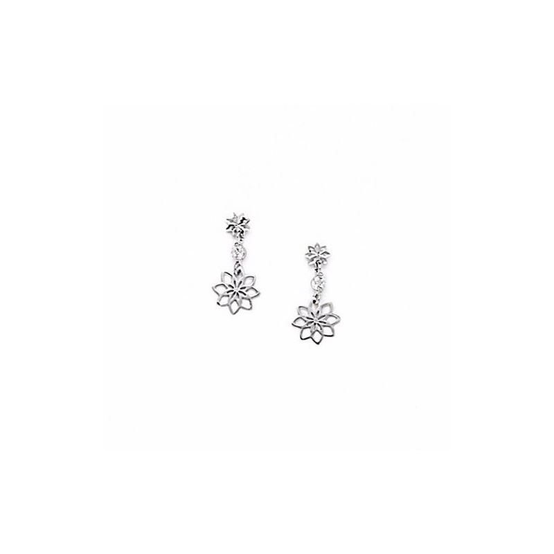14K White Gold star oval drop shap with  66159 1