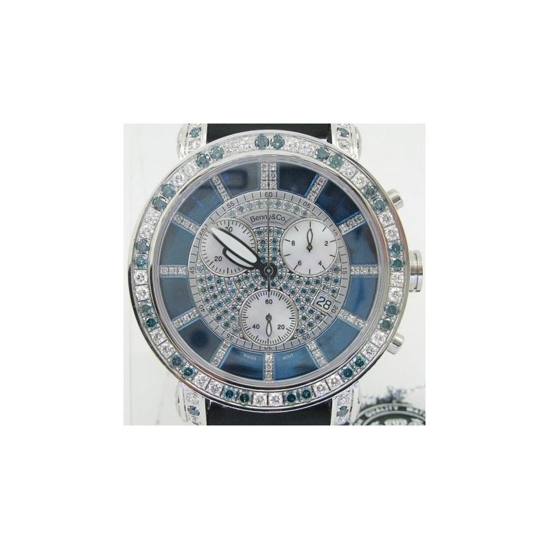 Blue And White Benny Co Diamond Watch BN 89444 1