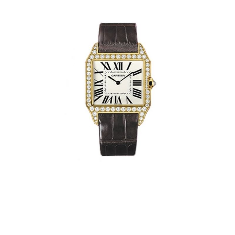 Cartier Santos-dumont Large Solid Gold M 55216 1