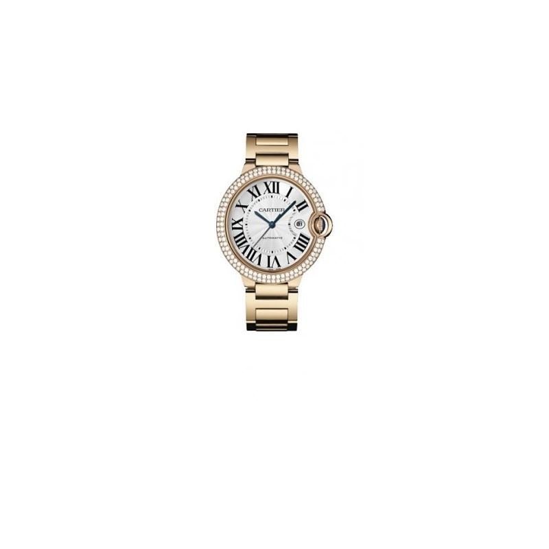 Cartier Ballon Bleu Mens Gold Watch WE90 55142 1