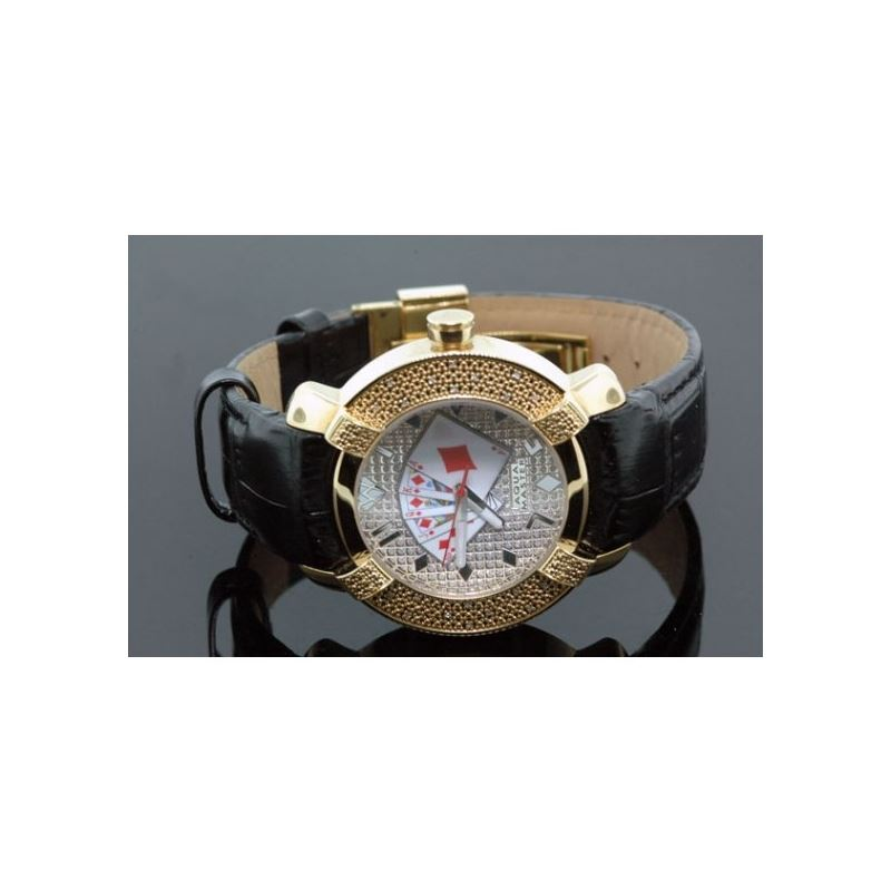 Aqua Master Yellow Gold Poker Face Mens  54582 1