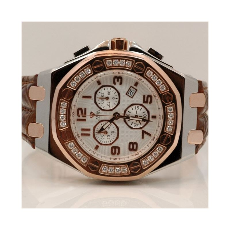 Aqua Master Royal Oak Mens Diamond Watch 49201 1