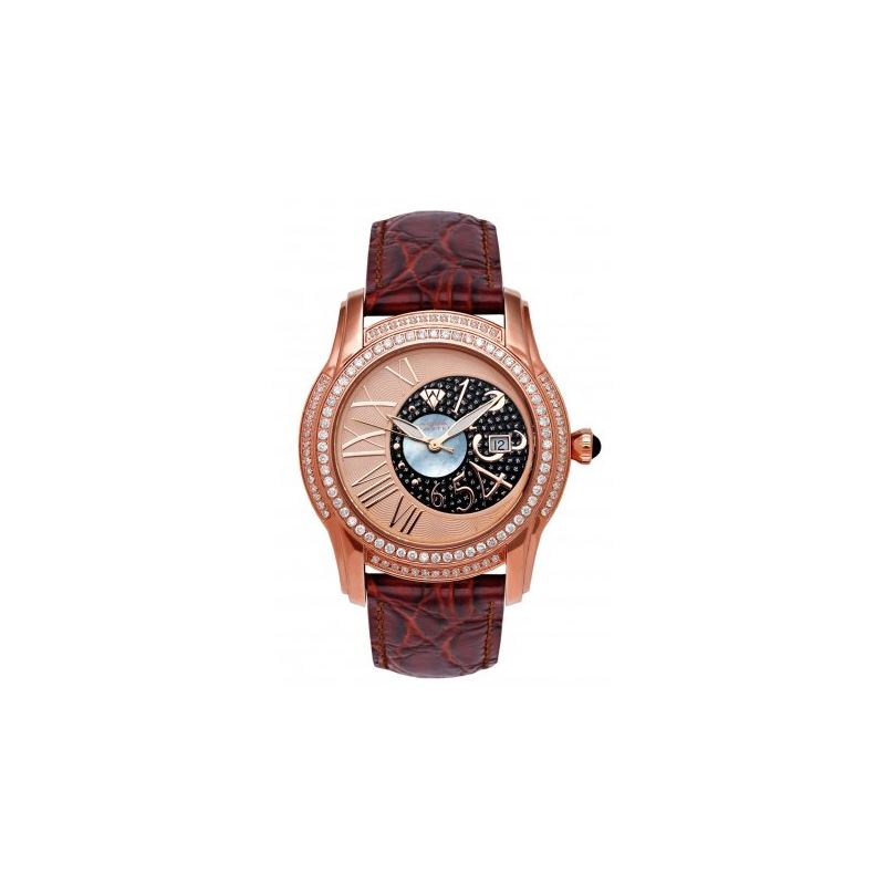 Aqua Master Mens Dual Time Diamond Watch 54552 1