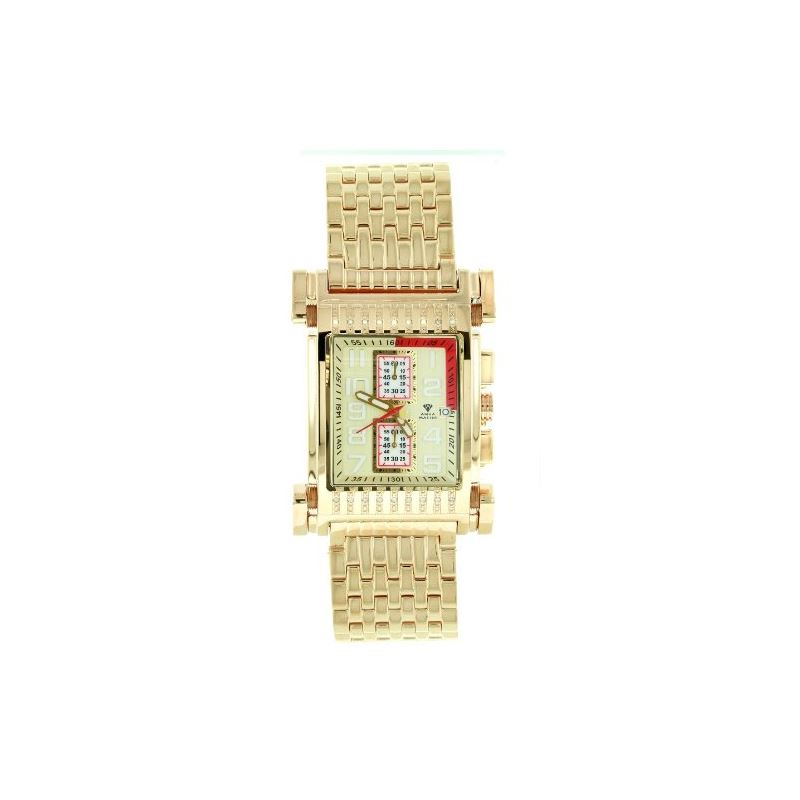 Men's Casino Series Gold-PVD Stainless Steel W