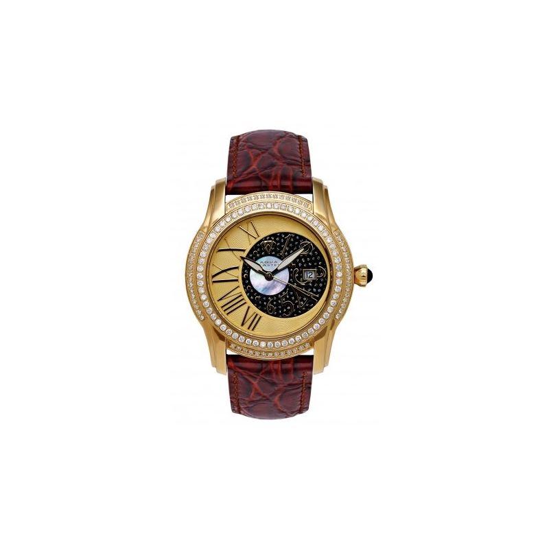 Aqua Master Mens Dual Time Diamond Watch 54553 1