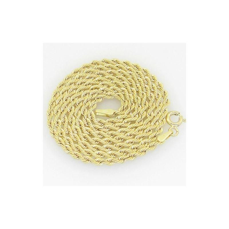 10K Yellow Gold rope chain GC13 61556 1