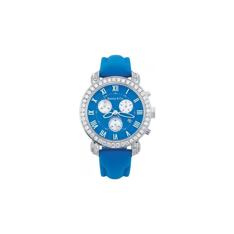 Benny Mens 3ctw Diamond Watch Blue 89471 1