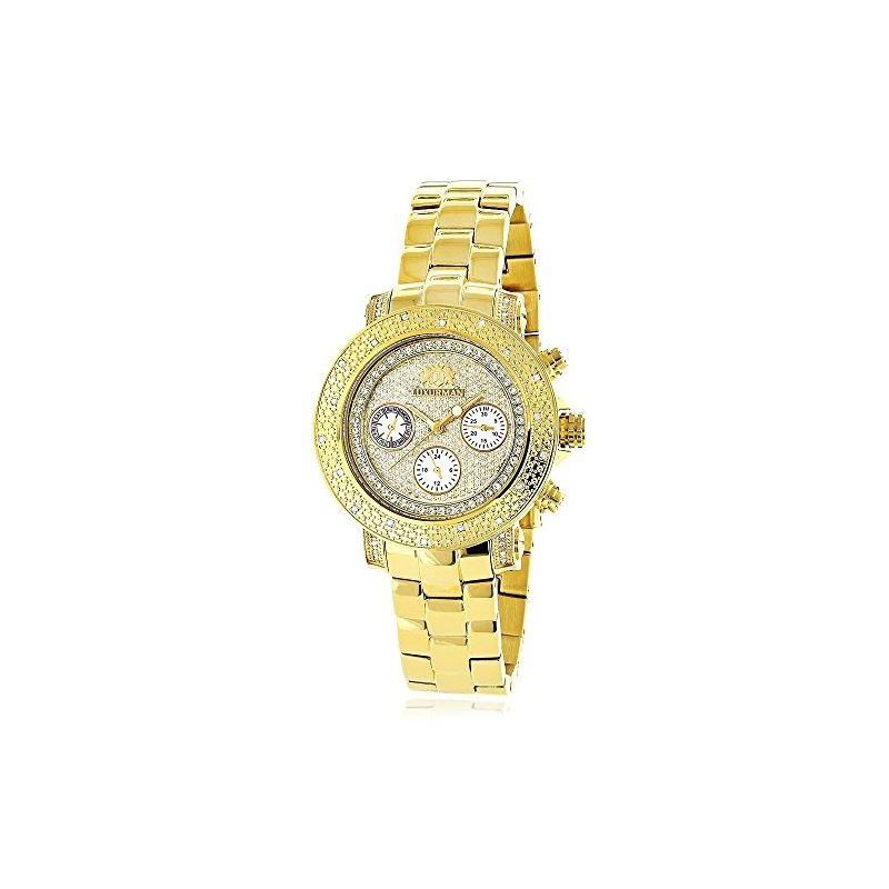 Luxurman Ladies Diamond Watch 0.3ct Yell 90039 1