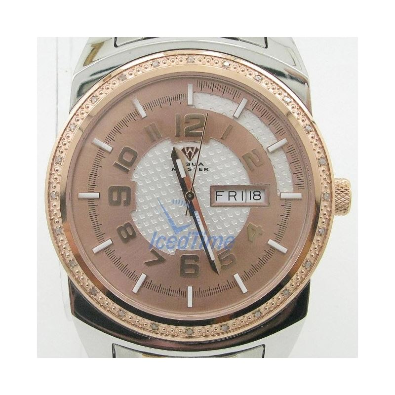 Mens Aqua Master Iced Out Diamond Watch  50545 1