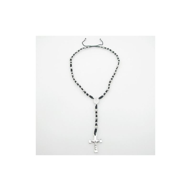 Stainless Steel Rosary Necklace with Cro 80199 1