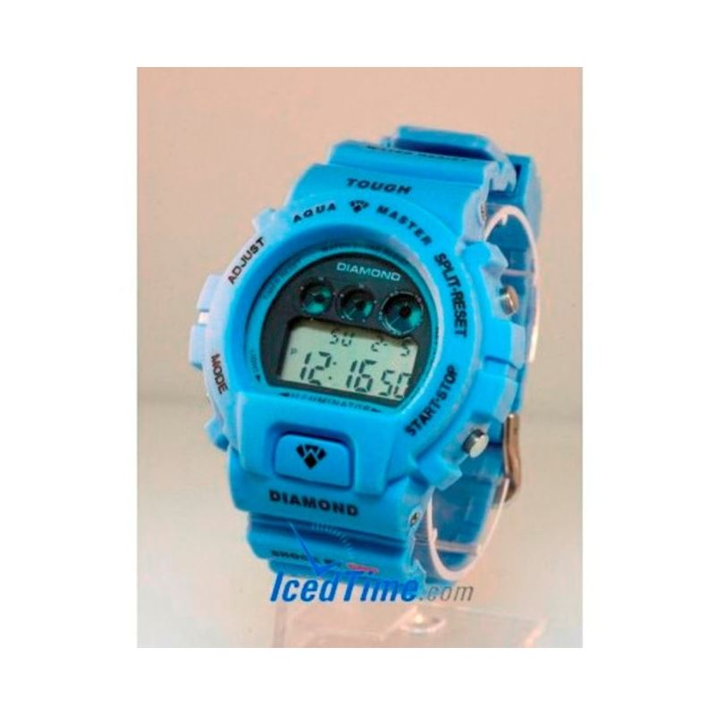 Aqua Master Shock Digital Watch Blue 27717 1