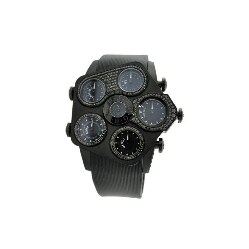 Jacob Co Jumbo Grand JGR5-29 Black PVD Dials 52.5