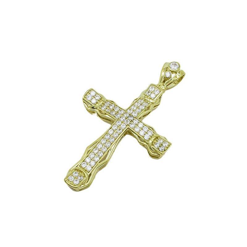 10K Yellow Gold unisex cross ASVJ64 62967 1