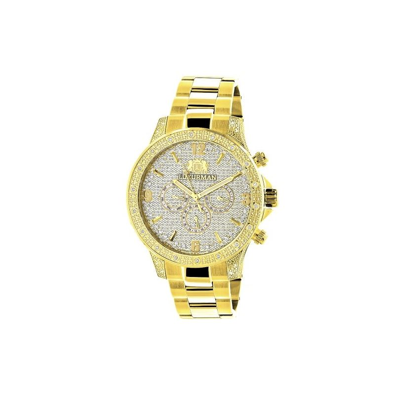 Luxurman Liberty Mens Real Diamond Watch 90241 1
