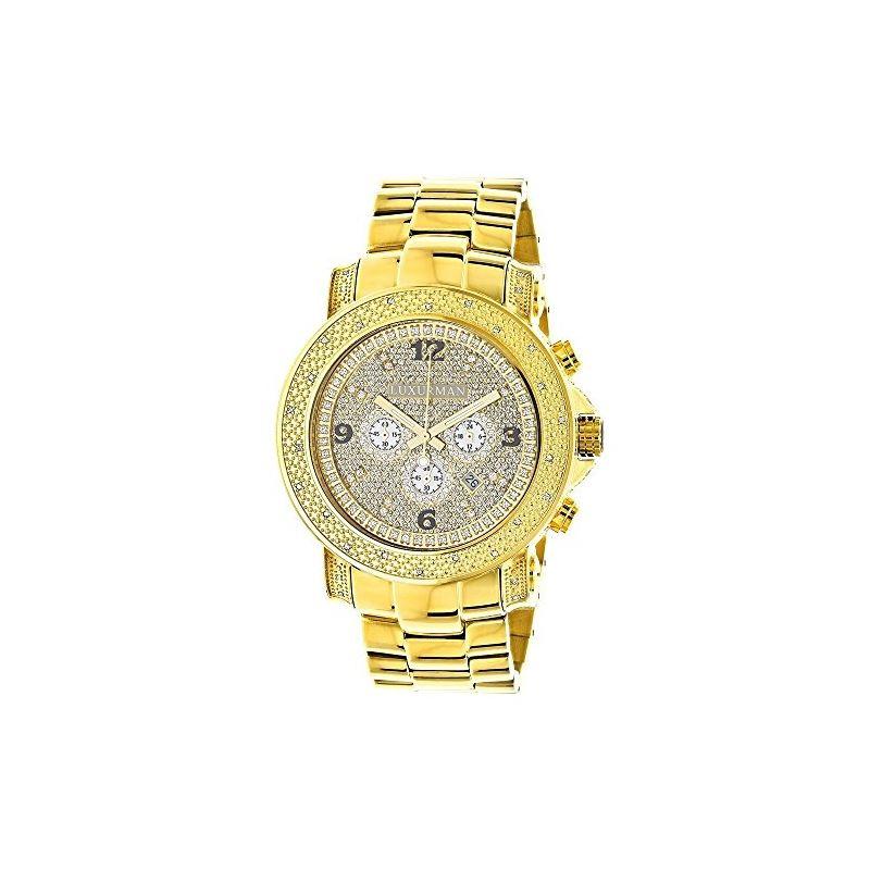 Luxurman Watch Mens Oversized Real Diamo 90580 1