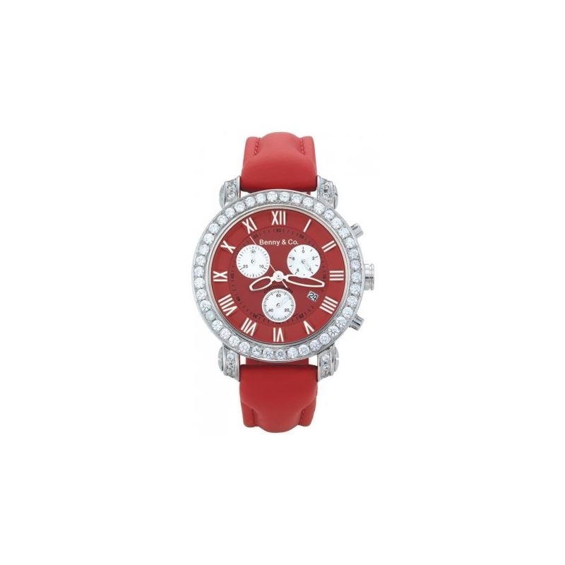 Benny Mens 3ctw Diamond Watch Red 89472 1