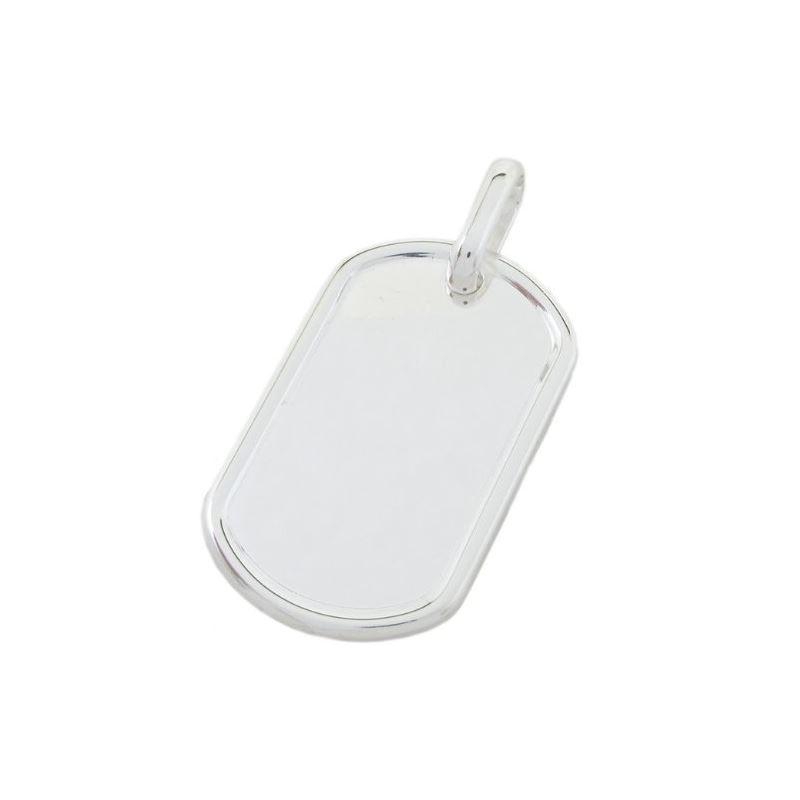 Plain dog tag pendant SB21 57mm tall and 79294 1