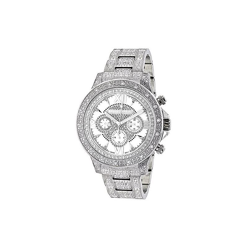 Iced Out Mens Diamond Watch 1.25Ctw Of Diamonds By