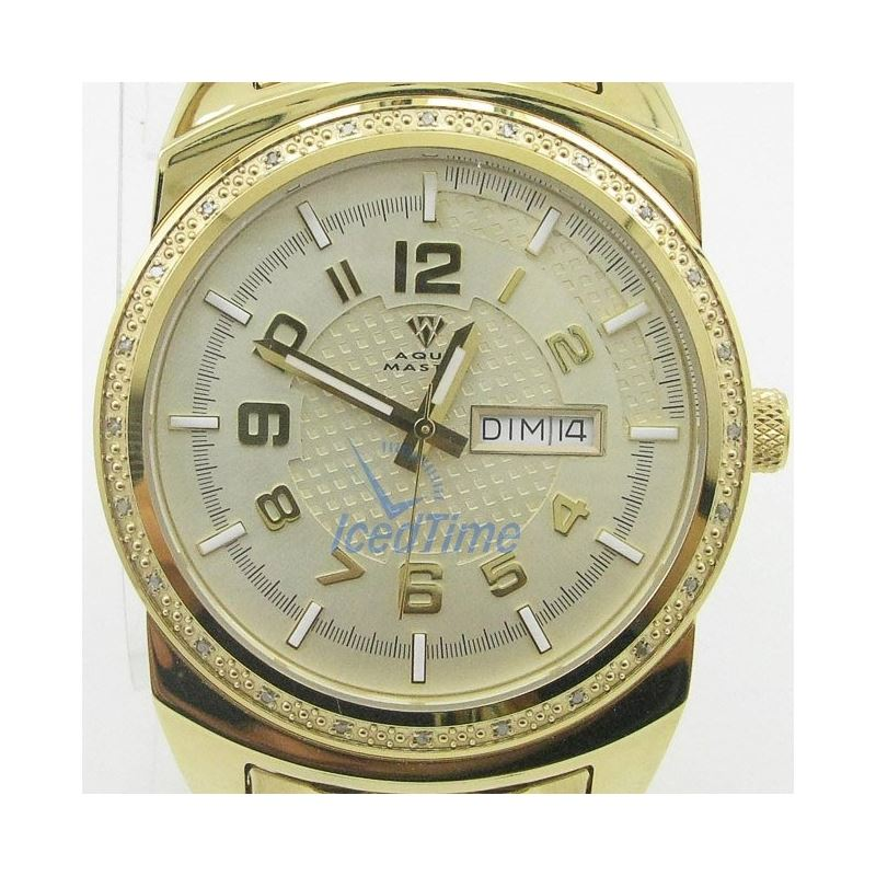 Mens Aqua Master Iced Out Diamond Watch  50559 1
