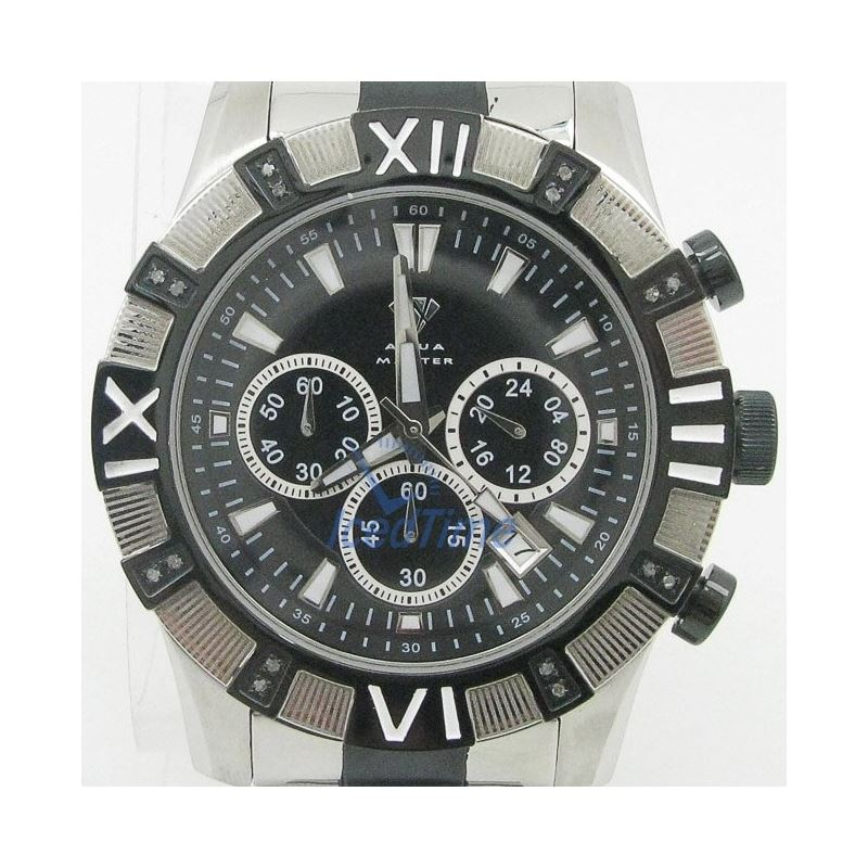 Mens Aqua Master Iced Out Diamond Watch  50573 1