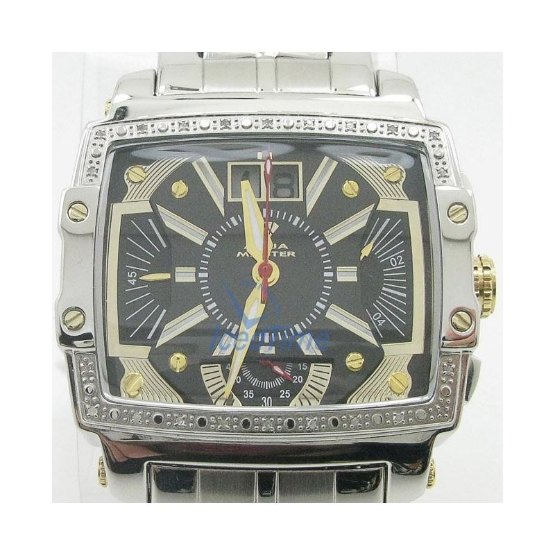 Mens Aqua Master Iced Out Diamond Watch  50692 1