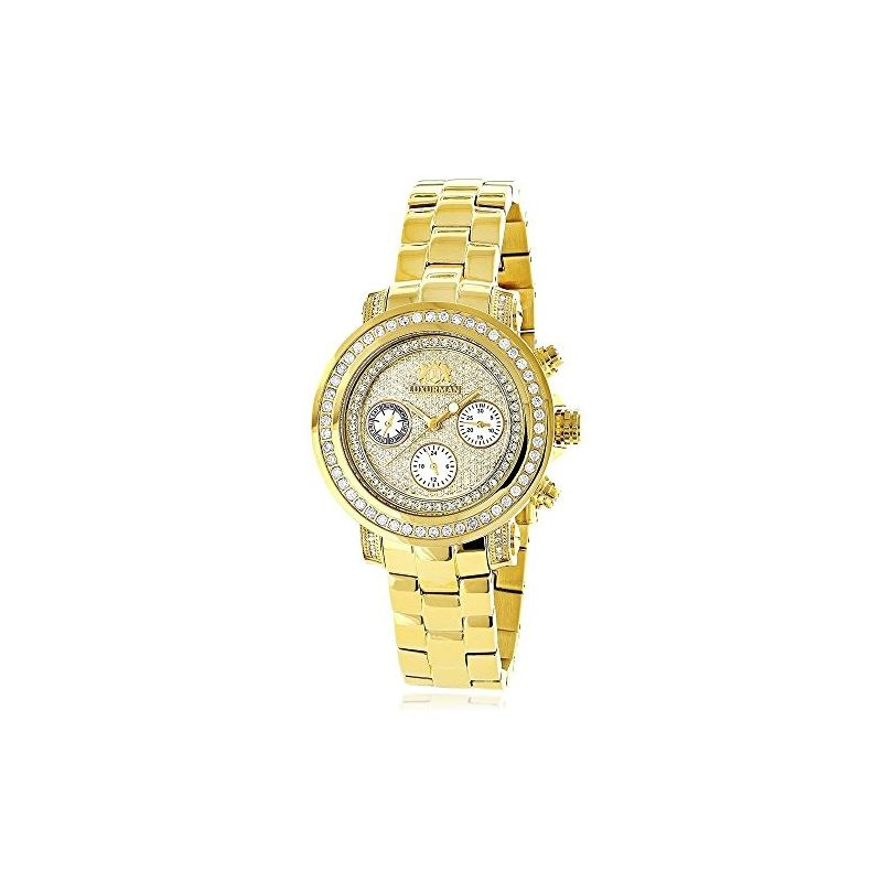 Luxurman Womens Real Diamond Yellow Gold 90685 1
