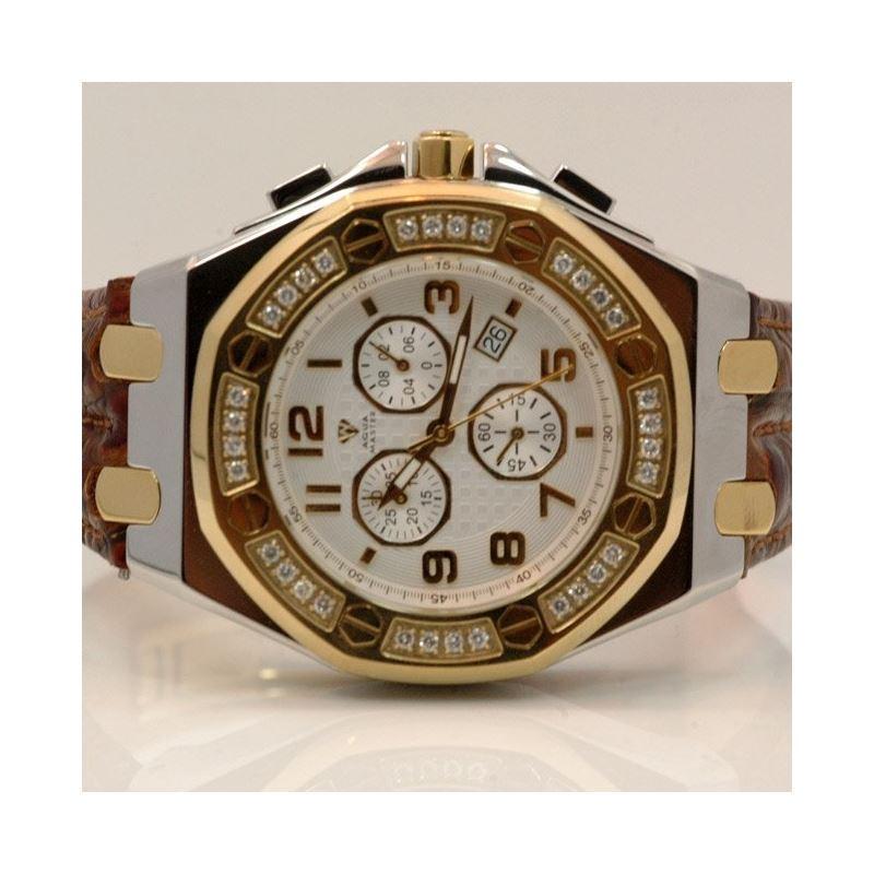 Aqua Master Royal Oak Mens Diamond Watch 49207 1
