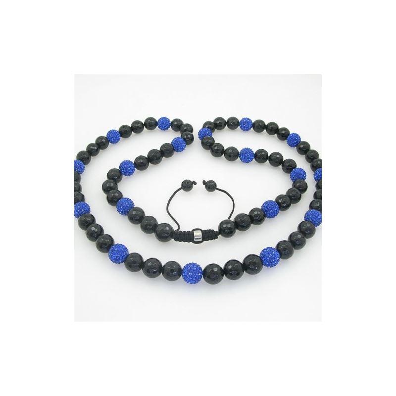Mens Beaded Rosary Chain Crystal Gemston 78627 1