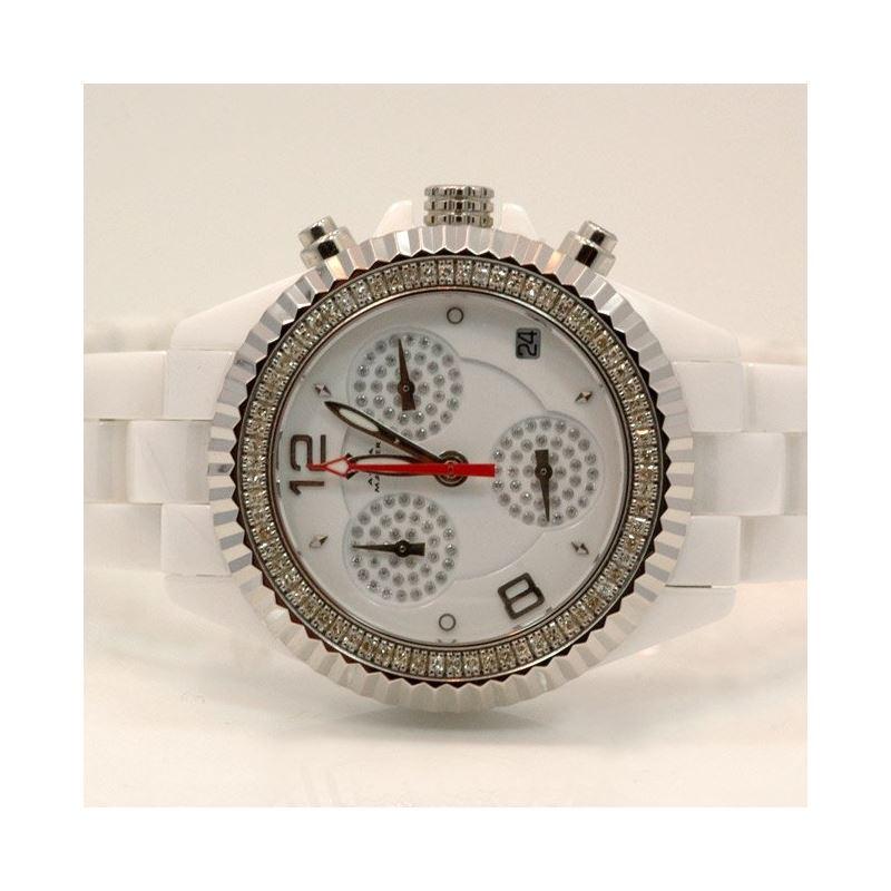 Aqua Master Ladies Ceramic Diamond Watch 53486 1