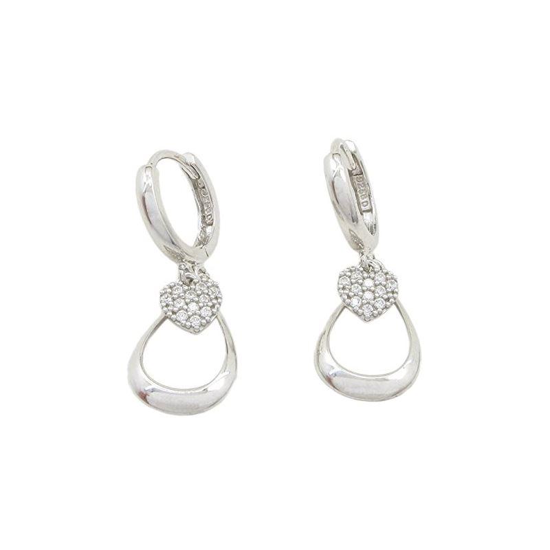 Womens Heart and teardrop chandelier ear 84229 1