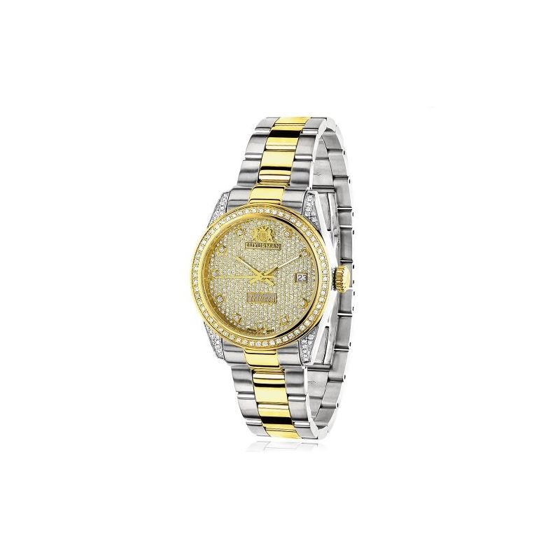 Womens White Yellow Gold Plated Diamond  91115 1