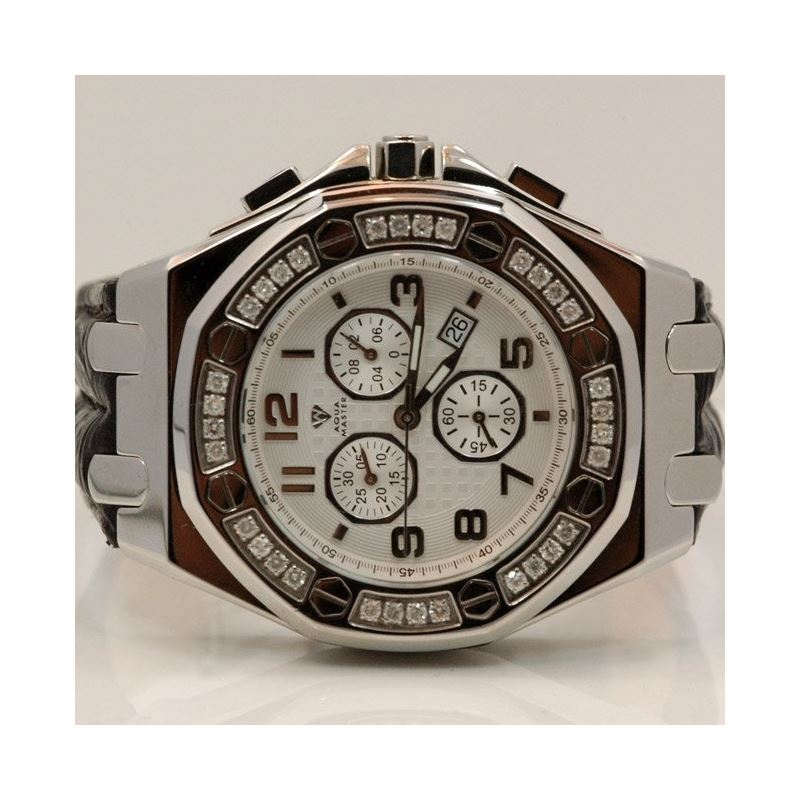 Aqua Master Royal Oak Mens Diamond Watch 49197 1