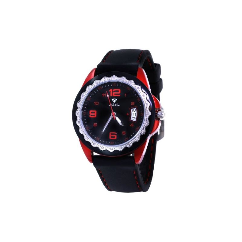 Unisex Black Dial Red/Black/Silver Tone Case 0.24C